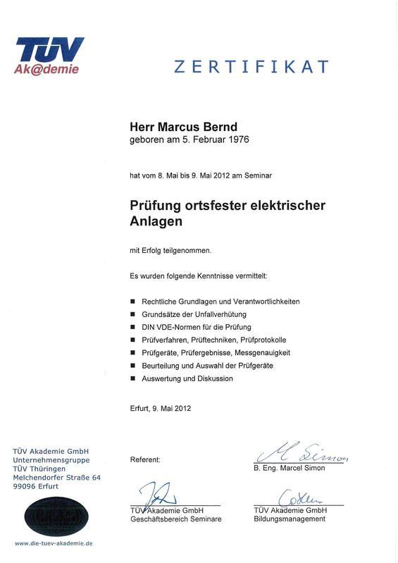 Unsere Zertifikate