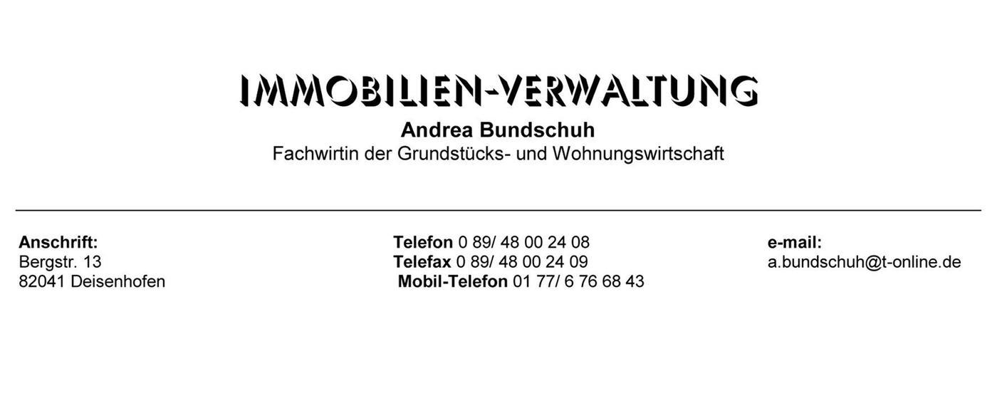 Immobilien - Verwaltung Andrea Bundschuh